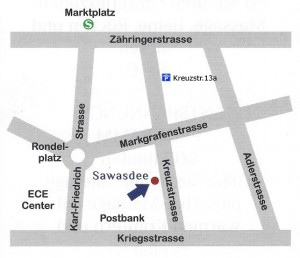 """So finden Sie zu uns: Straba-Haltestelle """"Marktplatz"""" Parkhaus """"Marktplatz"""""""